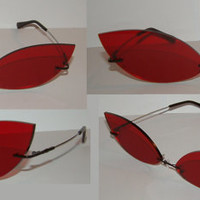 Red Cosplay Costume Sunglasses Glasses V3