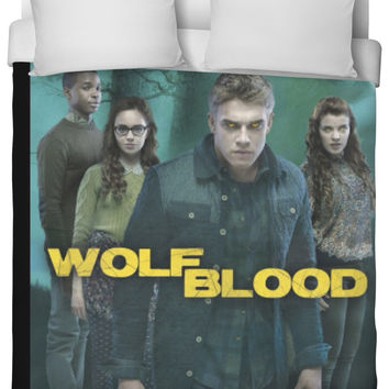 Wolf blood bed sheet