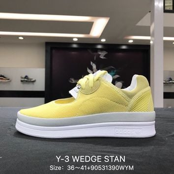 Y-3 WEDGE STAN 2018 Yellow White Sports Running Shoes Sneaker