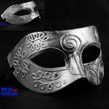 Party hero mask  Antique Roman Greek Fighter Men Mask Venetian Christmas Party Masquerade Halloween Costume prop Half Masks Veil