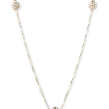 Judith Jack 14K Gold and Swarovski Crystal Trio Necklace