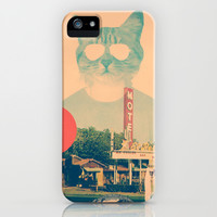 Cool Cat iPhone & iPod Case by Ali GULEC