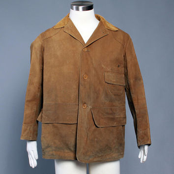 50s Men's Canvas HUNTING JACKET / 1950s Hunting Coat M - L 42