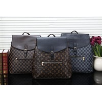 LV 2019 new men's old flower color matching travel bag backpack