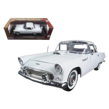 1956 Ford Thunderbird White \Timeless Classics\ 1-18 Diecast Model Car by Motormax