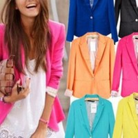 Lapel Blazer for Women (6 Colors Available)