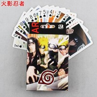 Naruto Sasauke ninja 54pcs  Poker Cards Anime  Figure Leaf Village Logo Konoha Uchiha Itachi Kakashi Akatsuki Members cosplay Poker Cards AT_81_8