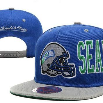 ONETOW Seattle Seahawks Snapback NFL Football Hat M&N