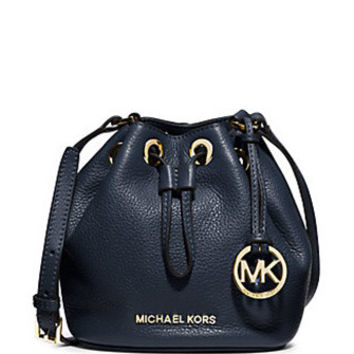 Michael Michael Kors Small Jules Leather Drawstring Crossbody