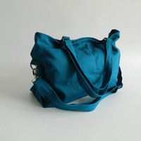 Back To School Sale - Mia in Teal  // shoulder bag / messenger bag / diaper bag / School bag / laptop / tote / women / For Her