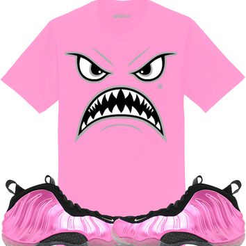 Pink Foamposites Sneaker Tees Shirt to Match - OREO WARFACE