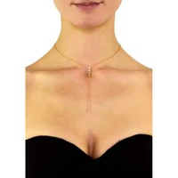 Erin Dainty Crystal Lariat Necklace