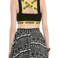 DC Comics Batman Checkered Sports Bra