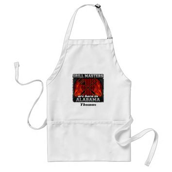 Grill Masters Are Born In Alabama Personalized Adult Apron