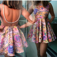 flower print fashion dress GV1215J