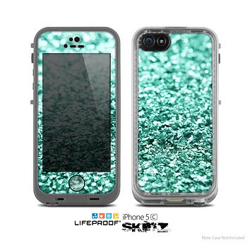 The Glimmer Green Skin for the Apple iPhone 5c LifeProof Case