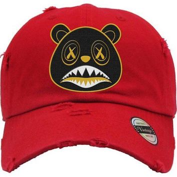 Blackout Gold Baws Red Dad Hat