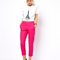 ASOS Crop Trousers in Linen