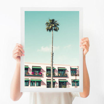 California Wall Art, Santa Monica Print, Palm Tree Printable, Printable Art, Printable Photography, Instant Download, Printable Poster