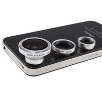 3 in 1 Camera Lens Kit Designed for Apple iPhone 4 4S iPad (Fish Eye Lens, Wide Angle + Micro Lens):Amazon:Cell Phones & Accessories
