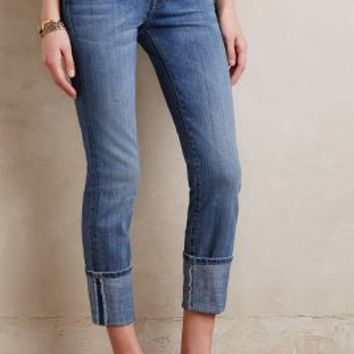 Current/Elliott Cuffed Skinny Jeans in Amour Size: