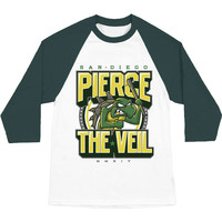 Pierce The Veil Men's  Team Turtle Baseball Jersey White Rockabilia