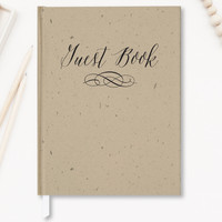 Wedding Guest Book, Hardcover, Rustic Guest Book GB104 (Non-personalized)