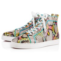 Best Online Sale Christian Louboutin Cl Louis Orlato Men's Flat Multi Python Kaa 17s Shoes 1170641m700