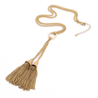 Vintage Gold Tassel Necklace
