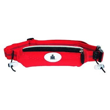 FuelBelt Ironman Collection Super Stretch Race Waistpack, Red/Black, One Size