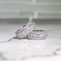 5 Layer Diamond Band Ring