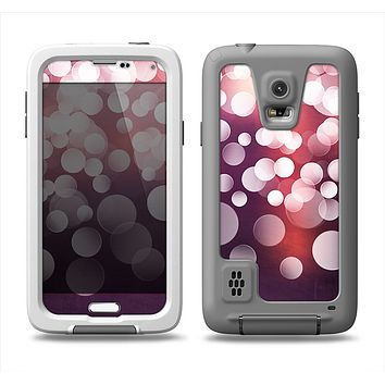 The Dark Purple with Glistening Unfocused Light Samsung Galaxy S5 LifeProof Fre Case Skin Set