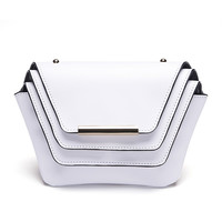 Geometry Layer Clutch in White