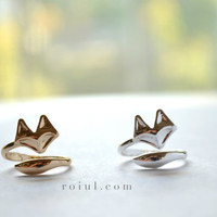 Tiny Silver Fox Ring