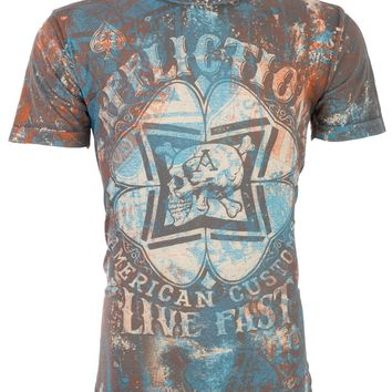 Licensed Official AFFLICTION Mens T-Shirt CLOVERFIELD American Customs Motorcycle Biker UFC $58