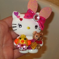 Happy Easter Hello Kitty Id Badge Retractable Reel Holder