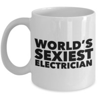 World's Sexiest Electrician Mug Gift Ceramic Coffee Cup