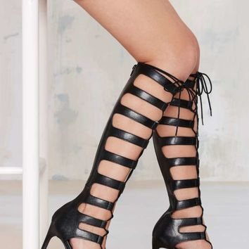 Nasty Gal Fighter Gladiator Heel