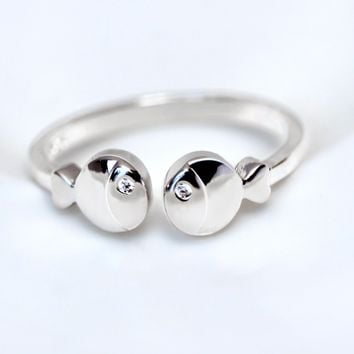 Lovely kiss fish 925 sterling silver ring, a perfect gift