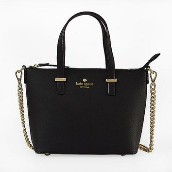 """Kate Spade"" Women Simple All-match Fashion Metal Chain Single Shoulder Messenger Bag Handbag"