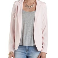 Structured Open Front Blazer by Charlotte Russe - Lt Pink