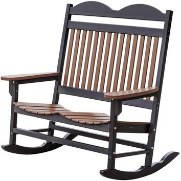 Wildridge Heritage Traditional Recycled Plastic Double Rocker Chair