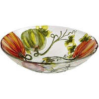 Harvest Garden Pumpkin Serving Bowl