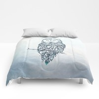 Snow Owl Comforters by LouJah