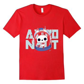 Astronaut skull in helmet - Mission to outer space T shirt