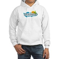 Long Beach Island NJ - Surf Design Hoodie> Long Beach Island NJ> Beach Tshirts.
