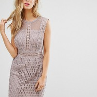 New Look Cutwork Lace Shift Dress at asos.com