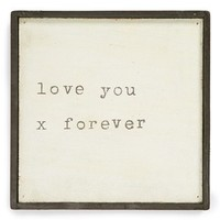 Sugarboo Designs 'Love You x Forever' Vintage Framed Art Print
