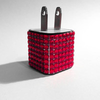 Total Bling Red iPhone USB Charger