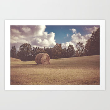 Alone Art Print by Faded  Photos